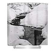 Snow Stream 2 Shower Curtain