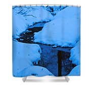 Snow Stream Shower Curtain