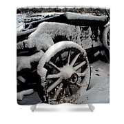 Snow Wagon Shower Curtain