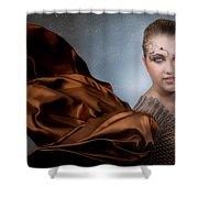Snow Warrior Shower Curtain