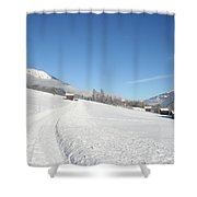 Snow White Field Shower Curtain