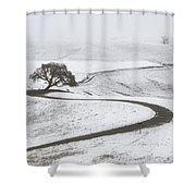 Snow Without You Shower Curtain