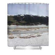 Snow World Long 2 Shower Curtain