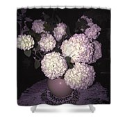 Snowball Bouquet Shower Curtain