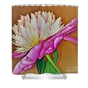 Snowball Peony Shower Curtain