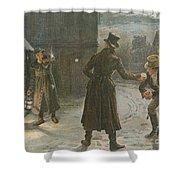 Snowballing The Watchmen Shower Curtain