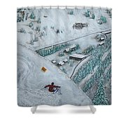 Snowbird Steeps Shower Curtain by Michael Cuozzo
