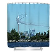 Snowbirds Circle Cn Tower Shower Curtain