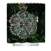 Snowcrystal Ornament 2016 Shower Curtain