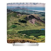 Snowdon Moutain View Shower Curtain