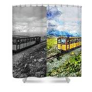 Snowdon Train Shower Curtain