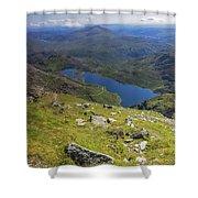 Snowdon View Shower Curtain