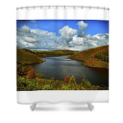 Snowdonia Landscape Shower Curtain