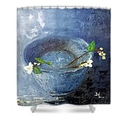 Snowdrops Bowl Shower Curtain
