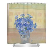 Snowdrops In A Glass Shower Curtain