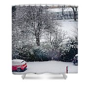 Snowfall 1 Shower Curtain