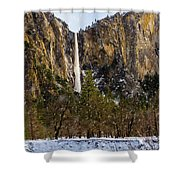 Snowfall Bridalveil Falls Shower Curtain
