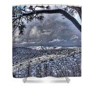 Snowfall Covers Northern Arizona For Christmas Shower Curtain