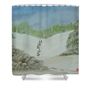 Snowfall In The Valley Shower Curtain