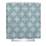 Snowflake By Piel Shower Curtain