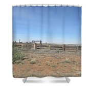 Snowflake Corral Shower Curtain