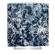Snowflake Greetings Shower Curtain