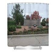 Snowflake Mormon Temple Sign Shower Curtain