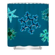 Snowflake Pattern Shower Curtain