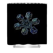Snowflake Photo - High Voltage IIi Shower Curtain by Alexey Kljatov