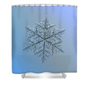 Snowflake Photo - Majestic Crystal Shower Curtain