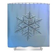 Snowflake Photo - Majestic Crystal Shower Curtain by Alexey Kljatov