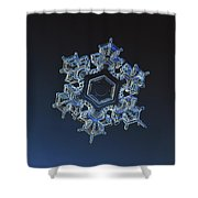 Snowflake Photo - Spark Shower Curtain