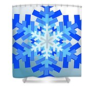 Snowflake Pile Shower Curtain