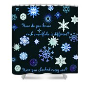 Snowflakes 2 Shower Curtain