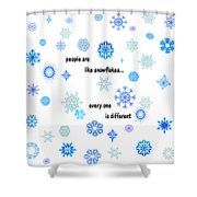Snowflakes 3 Shower Curtain