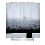 Snowflakes Chill The Iron Shower Curtain