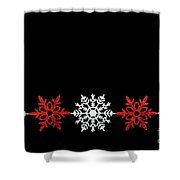 Snowflakes In A Row Shower Curtain