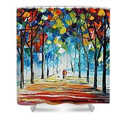 Snowing Alley Shower Curtain