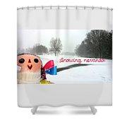 Snowing Nevando Shower Curtain