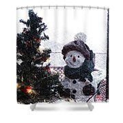 Snowman And Tree Pa Shower Curtain