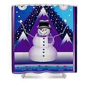 Snowman Juggler Shower Curtain