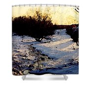Snowmelt Shower Curtain