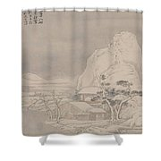 Snowscape From Album For Zhou Lianggong Shower Curtain