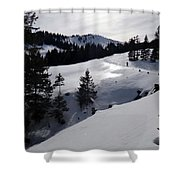 Snowshoeing Switzerland's La Berra Shower Curtain