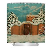 Snowstorm In Santa Fe Shower Curtain