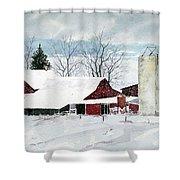 Snowstorm Shower Curtain