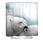 Snowstorm Kiss Shower Curtain