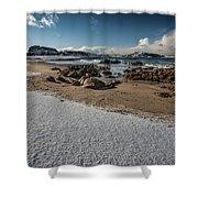 Snowy Beach Shower Curtain