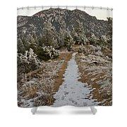 Snowy Colorado Trail Shower Curtain