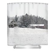 Snowy Countryside Shower Curtain